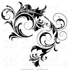 clip of a black curlying leafy vine design by onfocusmedia