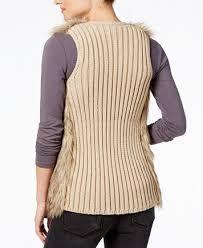 fur sweater hippie juniors faux fur sweater vest sweaters juniors