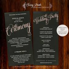 chalkboard wedding program template wedding programs posh pixel designs online store powered by