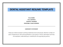 Free Dental Assistant Resume Templates Sample Of Dental Assistant Resume Dental Assistant Resume Examples