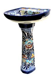 Pedestal Sink Mexican Talavera Pedestal Sink U0027cancun U0027 Terra Artesana