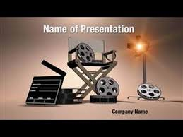 movie production powerpoint video template backgrounds