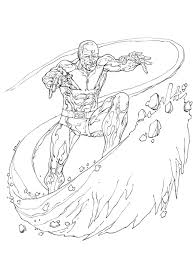 printable coloring pages iceman superheroes kids adults