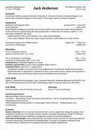 sample resume for software tester python experience resume free resume example and writing download 89 stunning resumes that work examples of