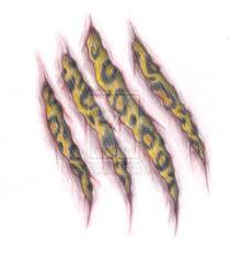 paw scratch pin wolf print tattoos designs paw