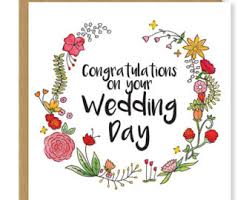 Wedding Day Greetings Wedding Congrats Card Congratulations On Your Wedding Card