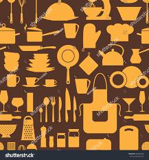 seamless pattern restaurant kitchen utensils stock vector