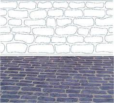 stenciled concrete re finishing for driveway garage pinterest