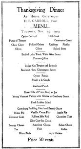 s café américain thanksgiving day menus
