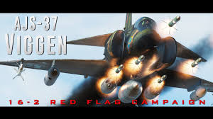 The Red Flag Campaign Ajs 37 Viggen 16 2 Red Flag Campaign Youtube