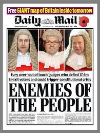 british newspapers react to judges u0027 brexit ruling u0027enemies of the