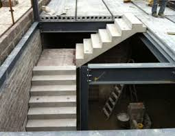Precast Concrete Stairs Design Straight Staircase Concrete Steps With Risers Contemporary