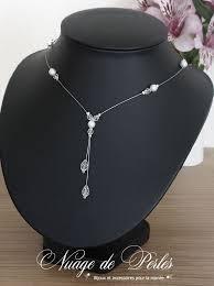 bijoux de mariage isatis un bijoux de mariage en perles collier de mariage en forme y
