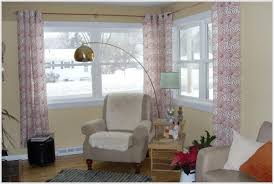 Corner Window Curtain Rod Double Corner Window Curtain Rodhome Design Ideas Curtains