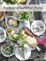 summer backyard picnic