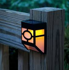 Outdoor Solar Table L Solar Powered Wall Led Lights L Outdoor Landscape Garden Yard