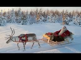 santa claus reindeer road lapland finland