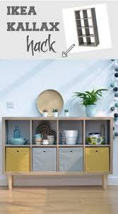 Ikea Sideboard Hack How To Add Feet To An Ikea Kallax Ikea Kallax Ikea Hack And Room
