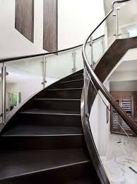Glass Handrails For Stairs Wood And Glass Railings Houzz
