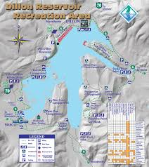 Colorado Ski Areas Map by Dillon Reservoir Town Of Frisco Town Of Frisco