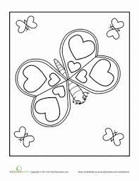valentine u0027s day butterfly worksheet education com