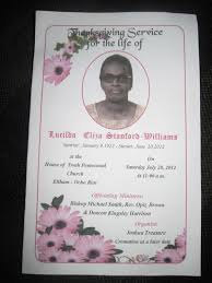 funeral programs exles smith s jamaican mission funeral program