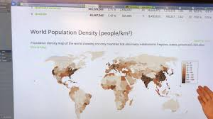 World Population Density Map Exponential Global Population Growth Exposing Elephants In The