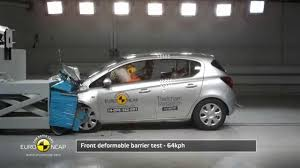 opel vauxhall euro ncap crash test of opel vauxhall corsa 2014 youtube