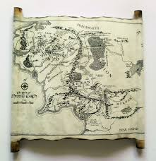 Map Of Mordor Map Of Middle Earth Scroll Lord Of The Rings Map The Hobbit