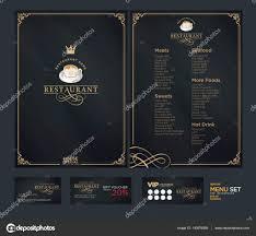 creative menu design layout design design set for menu restaur