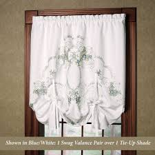 Tie Up Curtains Embroidered Tie Up Shade