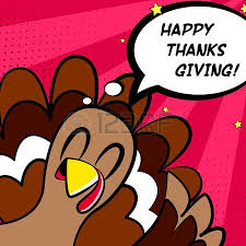 happy thanksgiving vector card with turkey and eggs comics style