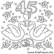 45 ans de mariage 45 ans illustration mariage à colorier mariage coloriages
