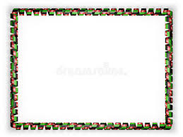 afghanistan ribbon frame and border of ribbon with the afghanistan flag 3d