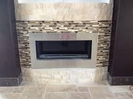 fireplace tile design floating bench
