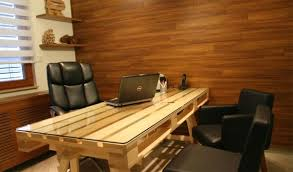 Office Desk Diy Diy Pallet Office Desk Goodiy