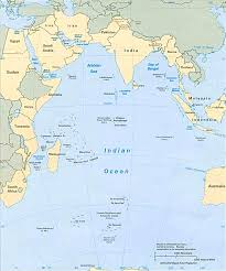 India On World Map Indian Ocean Area Map Africa Asia Oceania And Antarctica