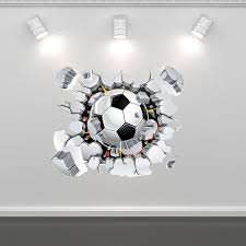 football soccer wall art sticker mural decal graphic boys zoom