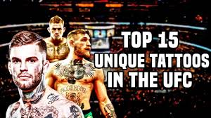 top 15 unique tattoos in the ufc youtube