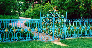 ornamental iron fences wrought by master blacksmith cover new