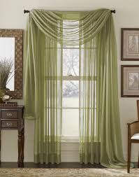 interior fancy decorating ideas using red loose curtains and
