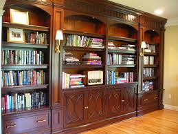 Mahogany Home Office Furniture Mahogany Library Cabinetry With Carved Mouldings Traditional