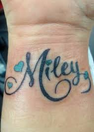 wrist name but it would say instead and be on my