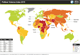 Iraq World Map by Map Shows Risks Of Political Violence In 2015 Business Insider