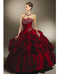 burgundy quince dresses gown strapless sweetheart lace up length