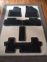 floor mats for toyota toyota highlander all weather waterproof floor mats