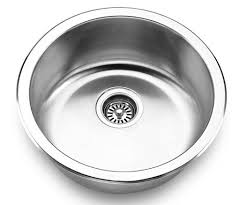Round Kitchen Sink by U502 Wells Jazz Series Round Bowl Stainless Steel Kitchen Prep Sink