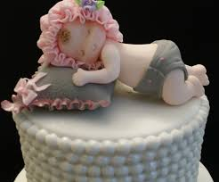 baby shower pink and grey baby shower baby cake topper