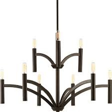 Progressive Lighting Chandeliers Progress Lighting Swing Collection 6 Light Antique Bronze