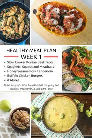 130 best healthy meal plans images on pinterest